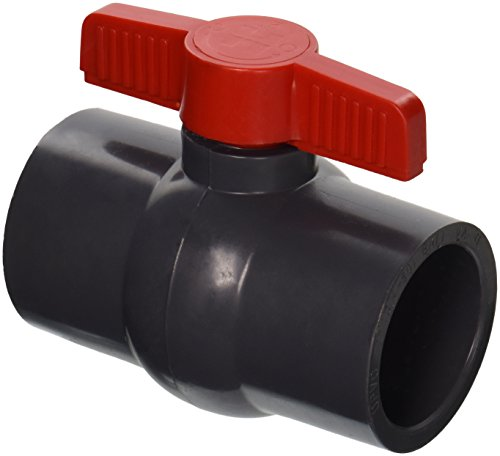 Hayward QVC1020SSEG 2-Inch Gray QVC Series Compact Ball Valve with Socket End Connection