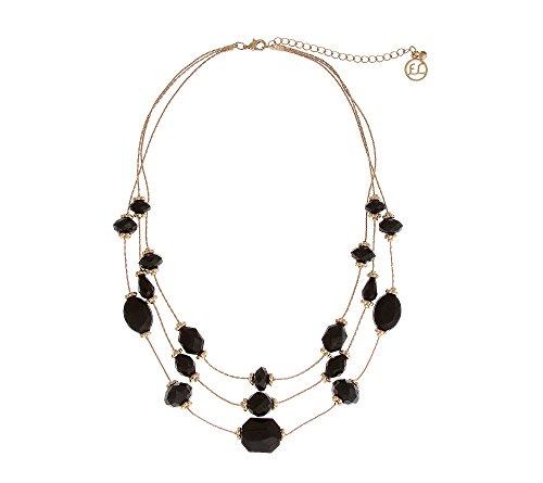 Erica Lyons Jet Bead Short Illusion Necklace