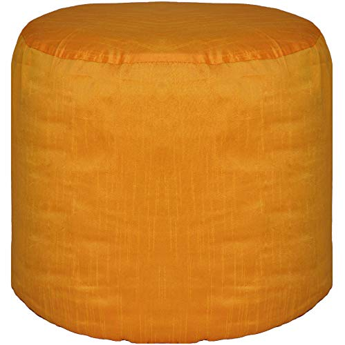 Footstool Round Pouffe Cover Ottoman Cover Polyester Orange 20