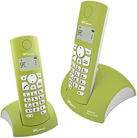 SPC Bubble - Teléfono (Teléfono DECT, Escritorio, Verde, Color Blanco, Tone/Pulse, Digital, Alemán, Holandés, Inglés, Español, Francés, Italiano, Portugués): Amazon.es: Electrónica