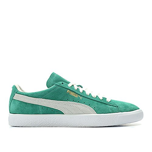 PUMA Men Suede - 90th Anniversary Green Kelly White Size 9.5 US (Puma Green Sneakers)