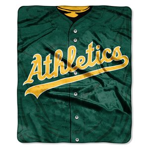 MLB Oakland Athletics Jersey Plush Raschel Throw, 50