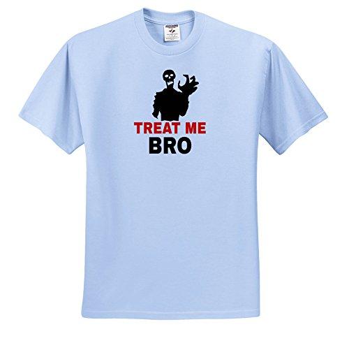 Alexis Design - Halloween - Halloween Horror Zombie Monster Treat Me Bro Black - T-Shirts - Toddler Light-Blue-T-Shirt (4T) (ts_264112_65)