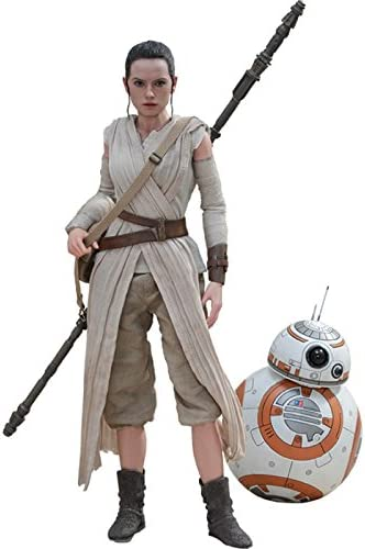 Amazon.com: Hot Toys HT902612 1:6 Scale Rey and BB-8 Figure Set: Toys & Games