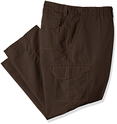 (Wrangler Men's Riggs Workwear Big Relaxed Fit Tactical Pant, Brown, 46x30)