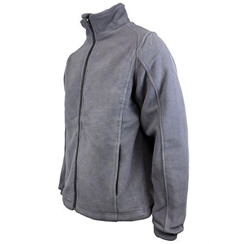 Da grey Chill Zip Factor Anti Giacca Invernale Pile Pelucchi Calda Uomo Con Lavoro In 5IOAxPZ