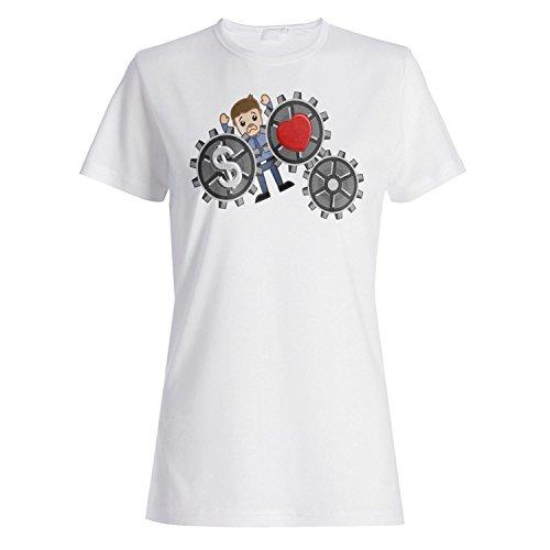 Ich liebe dich Dollar-Neuheit lustige Vintage Kunst Damen T-shirt zz59f