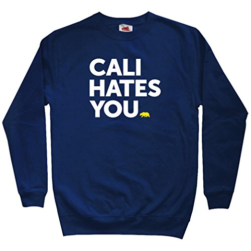 Smash Vintage Men's California Hates You Sweatshirt - Navy, XX-Large