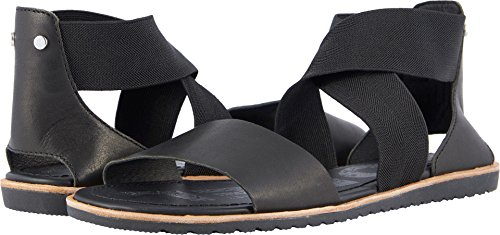 Sorel Womens Ella Sandal Cut Out Holiday Open Toe Fashion Beach Sandals - Black - 8