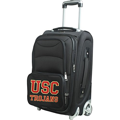 picture of NCAA USC Trojans In-Line Skate Wheel Carry-On Luggage, 21-Inch, Black