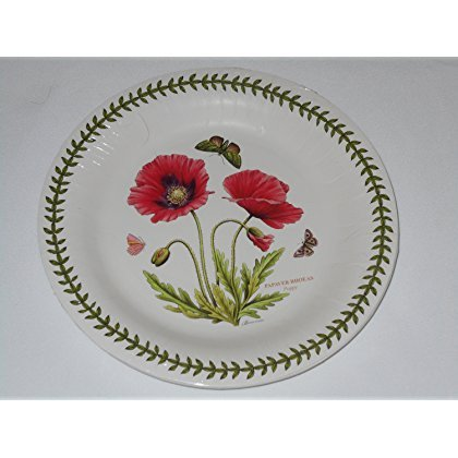 Botanic Garden Poppy Portmeirion by CR Gibson Coated Paper Dinner Plates 8 - Plate Turkey Paper