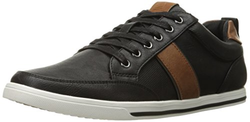 Aldo Men's Ekins Fashion Sneaker, Black Leather, 7.5 D US