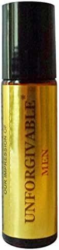 Perfume Studio Premium IMPRESSION ofUnforgivable_Oil; Cologne for Men; 10ml Roll On, Amber Glass, Black Cap, 100% Pure Undiluted, No Alcohol Perfume Oil (VERSION/TYPE Oil; Not Original Brand)