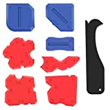 Alcoon 8 Pieces Caulking Tool Kit Silicone Sealant Finishing Tools Silicone Grout Remover Scraper Smoothing Sealing Tool Caulk Remover Tool for Bathroom Kitchen Room and Home Sealing Projects