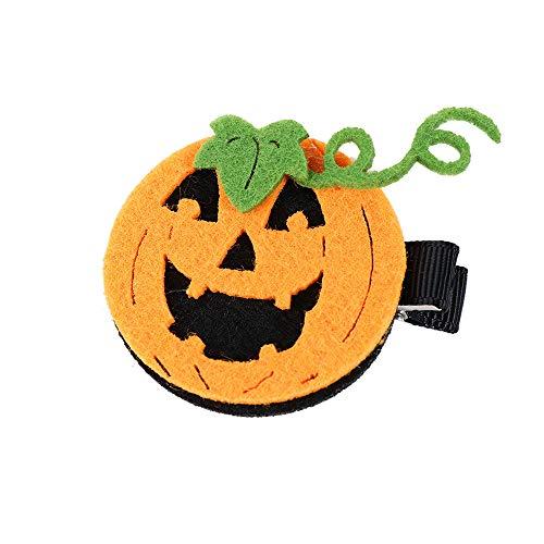VT BigHome Halloween Hair Bows with Ribbon Covered Clips for Kids Girls Fashion Mini Cute Pumpkin Hairclip Bows Hairpins Hair Accessories