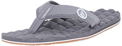Volcom Men's Recliner Flip Flop Sandal Light Grey