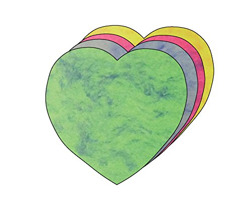 Heart Large Marble Assorted Color Creative - Heart Shape Outs Cut