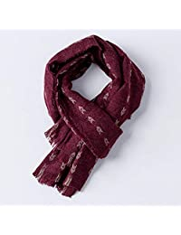 Scarf Female Autumn and Winter Warm Scarf Literary Shawl Female Autumn and Winter Dual-use Color Scarf (Color: Red) Believe in yourself (Color : Red)