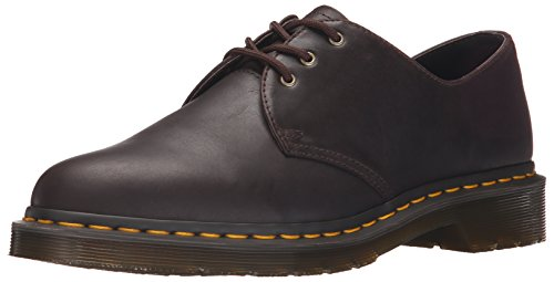 Brown Tumbled Leather Air (Dr. Martens Unisex Adults' 1461 Derby, Brown (Black), 12 UK)