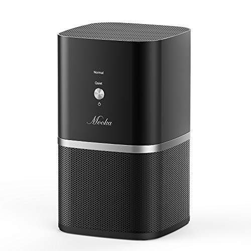 (Mooka Air Purifiers for Home & Office with True HEPA Filter, PM1220 [Upgraded] Desktop Air Cleaner, Compact Design, Super-Quiet [<35dB], Removes 99.97% of Allergens, Dust & Pollen, 3-Year Warranty)