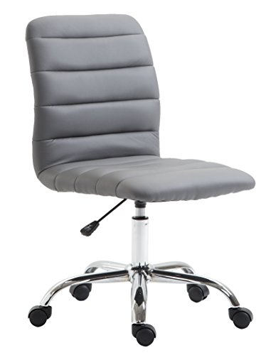 POLY & BARK EM-306-GRY Polox Task Chair in Vegan Leather, Grey ()
