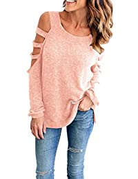 OMZIN Women's Blouses Casual T Shirt Summer Tops Pullover for Women Plus Size
