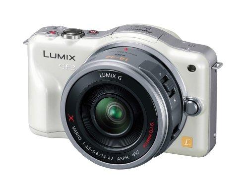 Panasonic ミラーレス一眼カメラ LUMIX GF3 電動ズームキット シェルホワイト DMC-GF3X-W