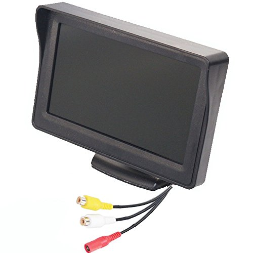 4.3'' High Resolution Car Color TFT LCD Camera Monitor 2 Video Input New Screen by Movka (Image #6)