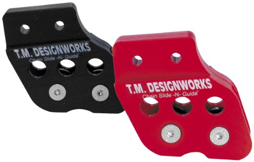 TM Designworks ATV Chain Guide With Dual Rollers Black