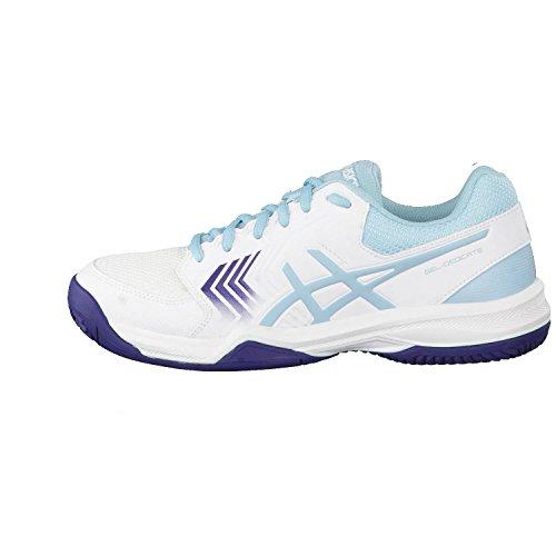 0114 Gel De 5 Femme Blue indigo Clay white dedicate Chaussures Blue Tennis porcelain Asics Multicolore 6dqHFBwxq