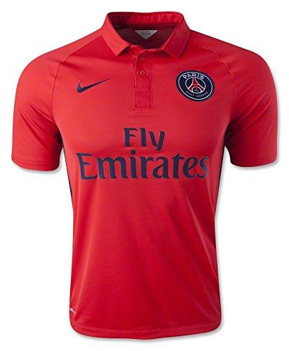 Nike Football Jersey : 2014-2015 David Luiz 32 Paris Saint-Germain FC Soccer Shirt Stadium Version PSG Men ()