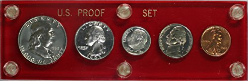 - 1953 Silver Proof Set In Plastic Holder
