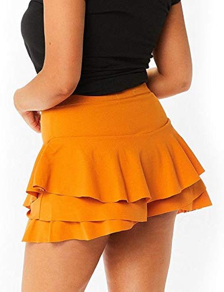 beautyjourney Faldas de Mujer con Volantes Falda de Playa de ...