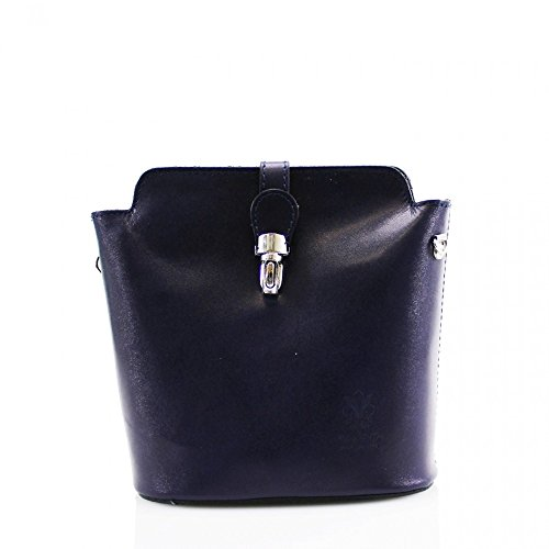 Navy HANDBAG SHOULDER BAGS LEATHER PELLE REAL FOR WOMEN BODY BAG VERA ITALY CROSS 7q4wWFp