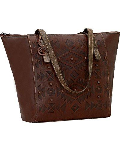 american-west-womens-mystic-shadow-zip-top-bucket-tote-bag-chestnut-one-size
