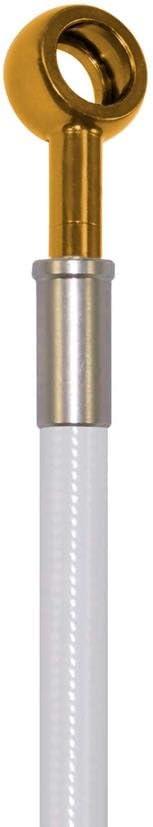 Pro Braking PBK2744-WHT-GOL Front//Rear Braided Brake Line White Hose /& Stainless Gold Banjos