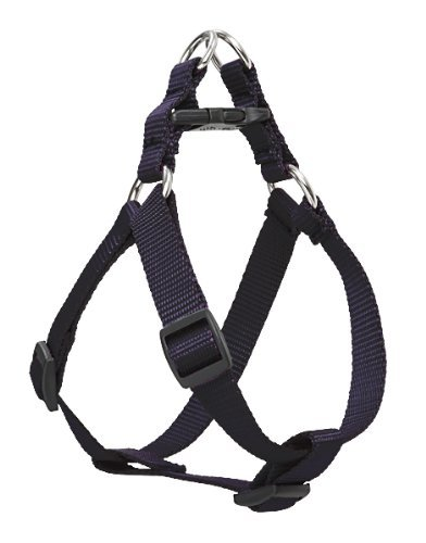 Adjustable Solid Black Nylon Step in Adjustable Pet Harness Size Xtra Small