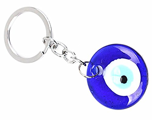 JewelBeauty Classic Evil Eye Keychain Blue Glass Turkish Nazar Hamsa Good Luck Lucky Charm Protection Amulet Gift (Turco Forms)
