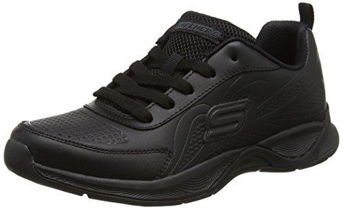 Skechers Mädchen Hi Glitz-Scholar Style Sneakers Schwarz (Black)