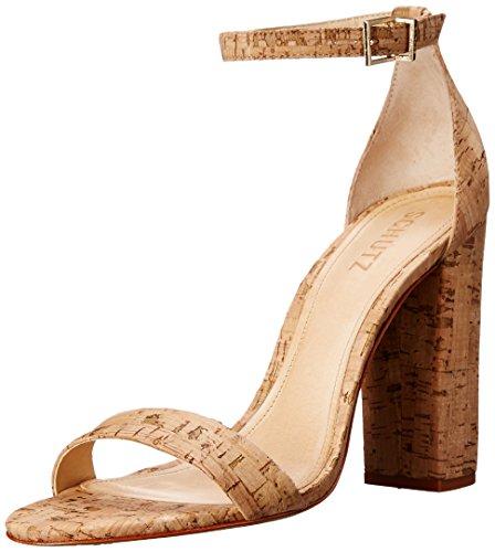 Cork Heels - Schutz Women's Enida Sandal, Natural, 8 M US