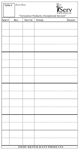 pack) for Servers/Waitresses -Made in USA- Designed to keep Waitstaff Professionals Organized- Guest checks Order pads fits in waiter book ()