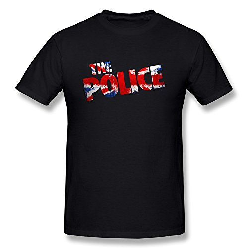 Seico Men The Police Rock Band Logo T Shirt Black Size M