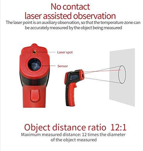 Termometro a infrarossi senza contatto termometro digitale per misurare la temperatura della superficie.
