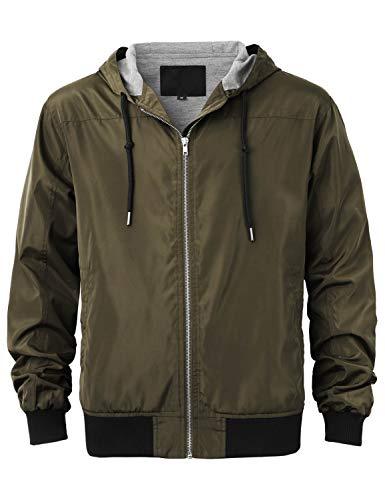 Ma Croix Mens Windbreaker Jacket (Large/ 1KSA0020_Olive) ()