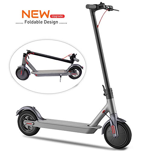 Electric Scooter for adults, 25.7 km Long-Range Battery, 8.5' Air Filled Tires - 22.5 KPH, Easy...