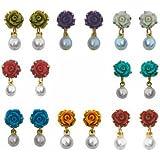 Nisa Pearls Multi colour Earring Combo for Women