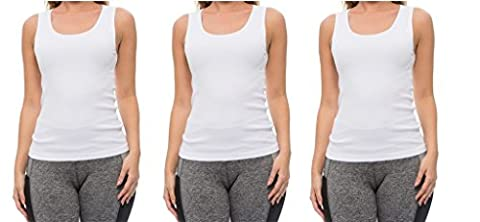 Coco-Limon Tank Tops for Women – 3 Pack Set of Stretch Ribbed Tanks - Soccer Womens Nightshirt