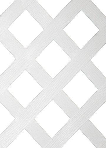 White Plastic Lattice Fence (48 in.) for Use with Fanta-SeaTM -