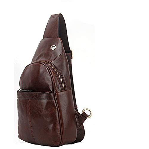 Bag Bag casual Bag suitable Leather Places Color business Top Zhou Sling Crossbody color Man's Lightweight Shoulder vintage Chest Bag leather Coffee leisure Sharon Bag Men's Color 0Oq6IZHww