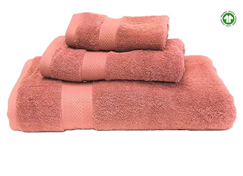 Organic Premium Cotton Towel Set. 3 Piece Set; Durable, Soft, Extra Absorbent, Premium Quality GOTS Certified Organic Cotton. Safe and Toxic Free for Healthy ()